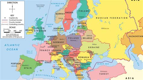 countries of europe in europe and capitals map thefreebiedepot