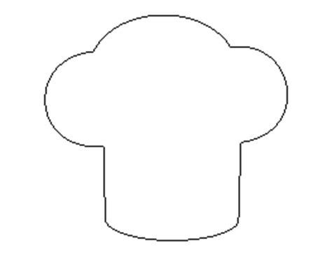 chef hat printable template free clothing patterns for crafts stencils and more