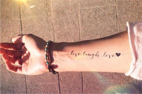 tattoo quotes live laugh love live laugh love inknartshop designer temporary tattoo