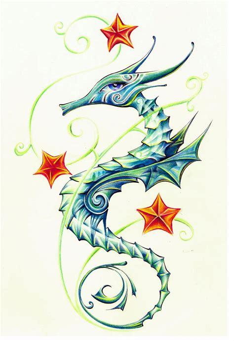 seahorse tattoo design 60 sea creature sea designs and pictures