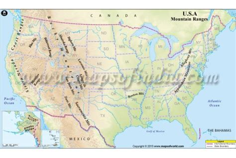 map of america showing mountains buy usa mountain ranges map in digital vector format