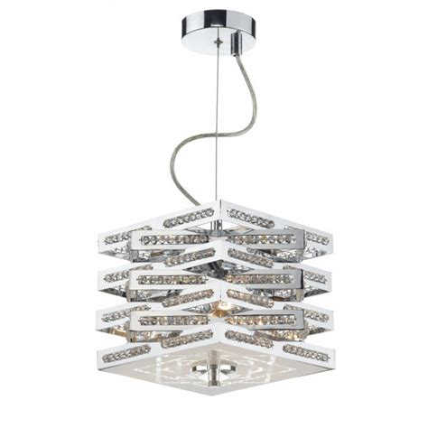 cub0350 pendant dar cube 3 light chrome semi flush