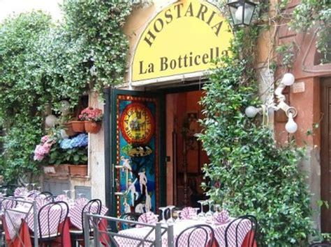 trastevere rome best restaurants hostaria la botticella rome trastevere restaurant