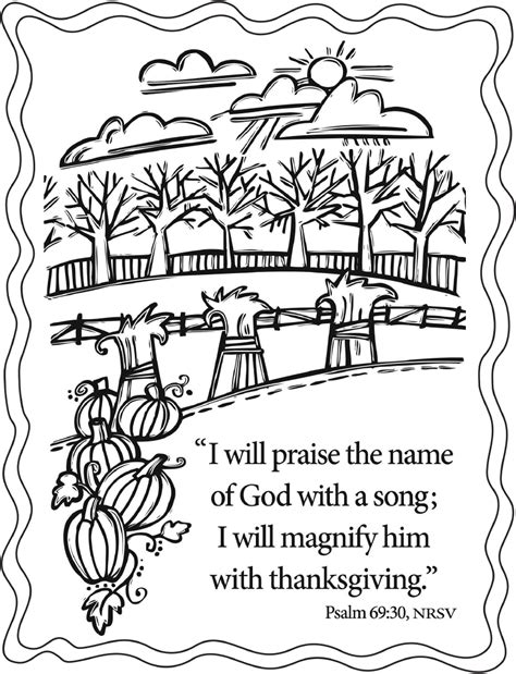 fall coloring pages with bible verses thanksgiving coloring pages scripture give thanks