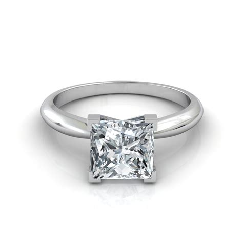 v prong princess cut engagement ring