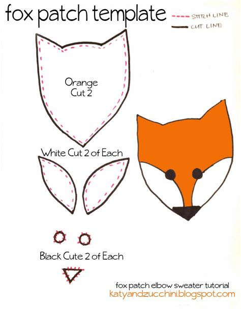 fox template next cut out your pieces use the fox template as a