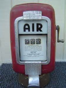 Car Tire Air Gas Station Eco Tireflator Air Meter Model 97 Wall Mount Gas