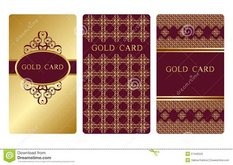 burgundy business card template gold business cards stock vector image of frame