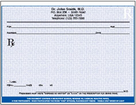 prescription template prescription pad template wordscrawl