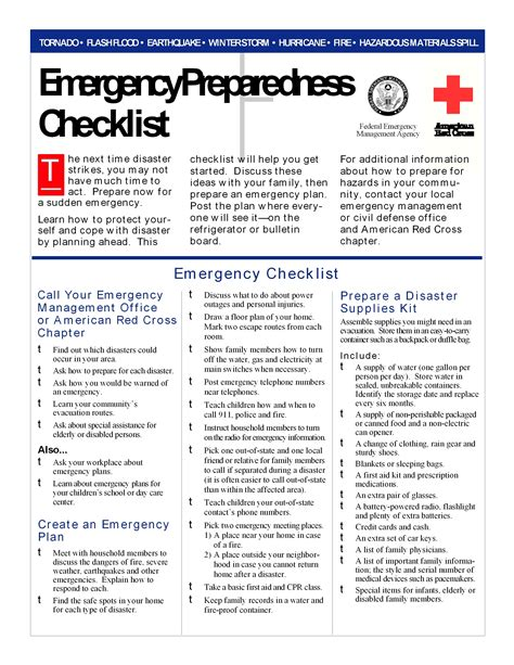 emergency response checklist template best photos of emergency disaster plan emergency family