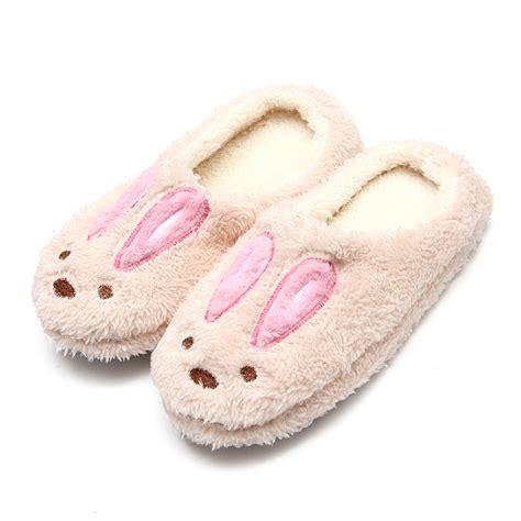 animal slippers for womens mens winter soft warm rabbit slippers animal