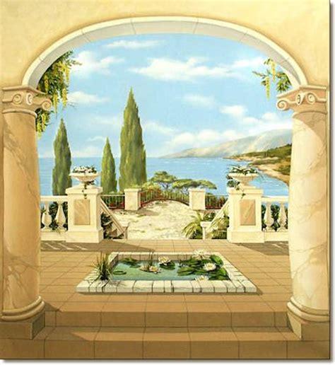 Mediterrane Bilder Gemalt by Quot Mediterrane Wandmalerei Illusionsmalerei Trompe L