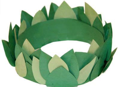 crown template ks2 the winter leaf crown and greek crafts on pinterest