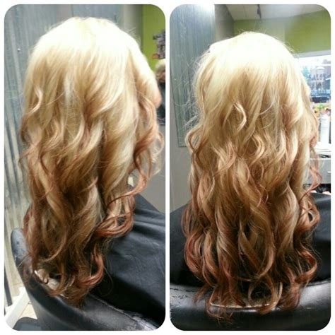 ombre hairstyles blonde to brown reverse ombre blonde and red except with chocolate