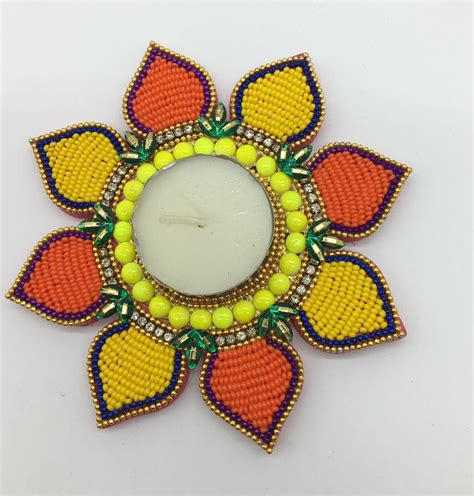 Handmade Diwali Diyas - handmade handbeaded diya for diwali home decor gift