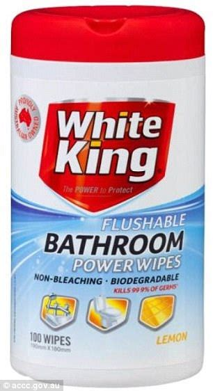aldi withdraws flushable toilet wipes  sale daily mail