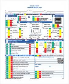 vehicle inspection sheet template vehicle inspection diagram universal vehicle inspection