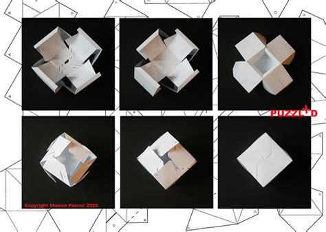 Paper Folding Puzzle - 6 best images of paper cube template fold paper cube