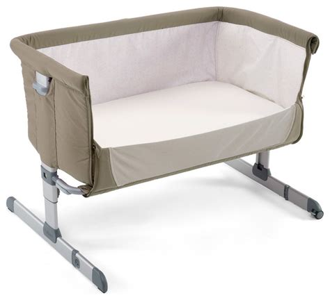 Chicco Next2me Crib Dove Grey Modern Cots Cribs Crib Next To Bed
