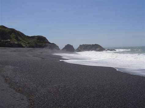 beach with black sand black sands beach whitethorn ca california beaches