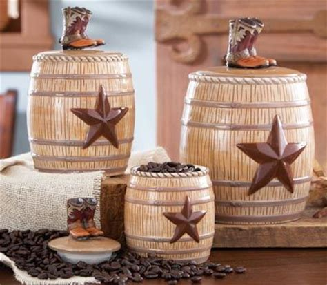 western kitchen canister set from collections etc for