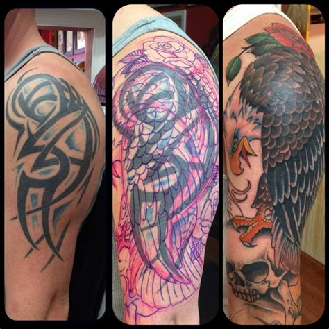 tribal tattoo cover up before after cover up magic before and after tattoos by gregfly