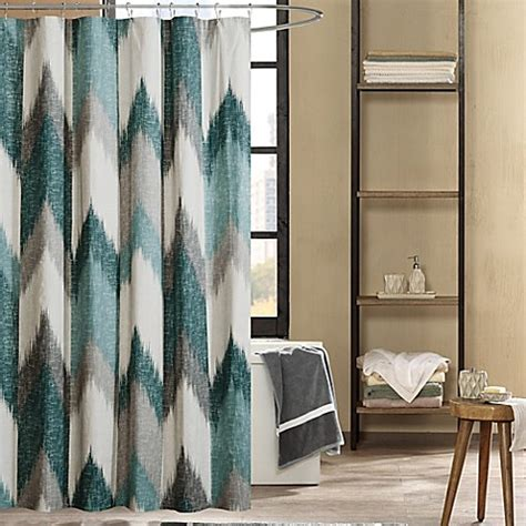 bed bath and beyond alpine buy ink ivy alpine 72 inch shower curtain in aqua from bed