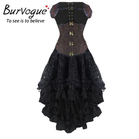 Corset New burvogue new steunk corset dress high waist