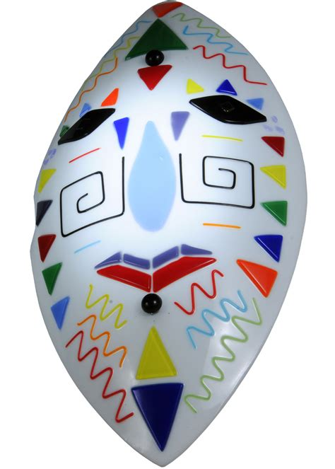 Meyda Tribal meyda 148304 fused glass tribal mask wall sconce