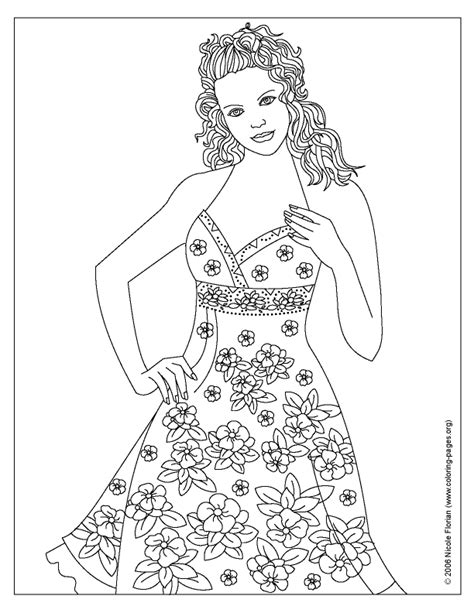 fashion coloring pages to print coloring home