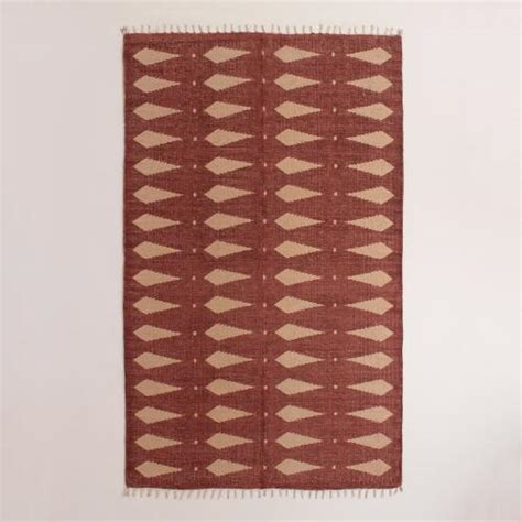 geometric print area rugs 5 x8 geometric print woven jute adrika area rug world market
