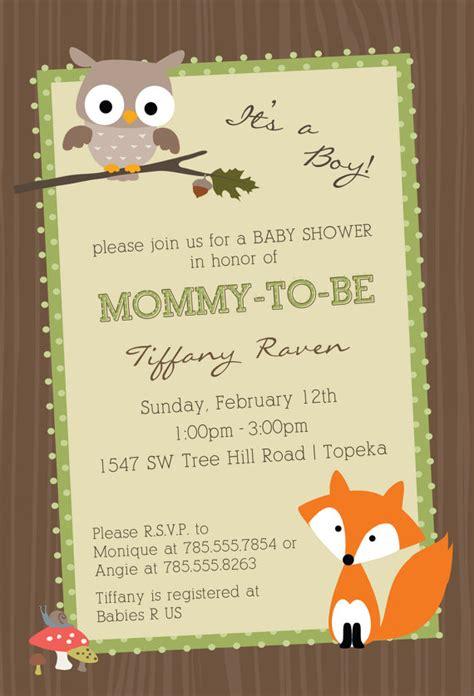 Baby Shower Invitation Templates Woodland Creatures Baby Woodland Invitation Template