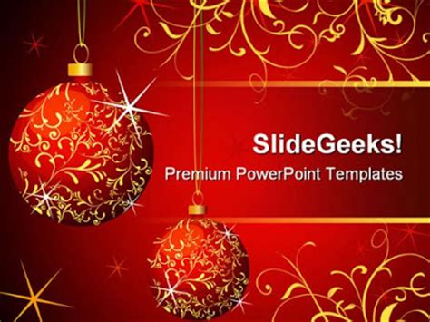 wallpapers clubs: christmas powerpoint template presentation