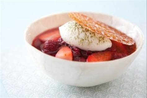 Tuile Dessert by Recette De Fruits Rouges Marin 233 S Et Mousse Chocolat Blanc