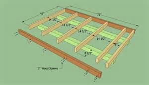 How To Build A Floor For A House How To Build A Lean To Shed Howtospecialist How To