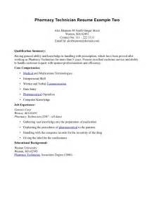 Pharmacy Technician Objective Statement Pharmacy Technician Resume Example