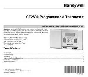 honeywell rth230b thermostat user manual honeywell wiring diagram free