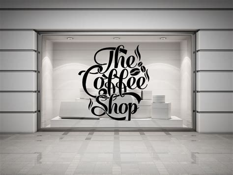 wall decor stickers shopping coffee shop quote vinyl wall decal coffee lettering wall