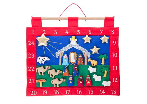 Fabric Advent Calendar Nativity Fabric Advent Calendar Plaid Tidiings
