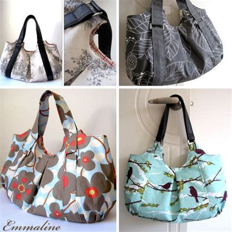 Handmade Tote Bags Patterns - emmaline bag pdf sewing pattern an epattern for handmade