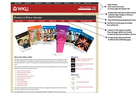 hybrid layout website exles wku website design standards and requirements western