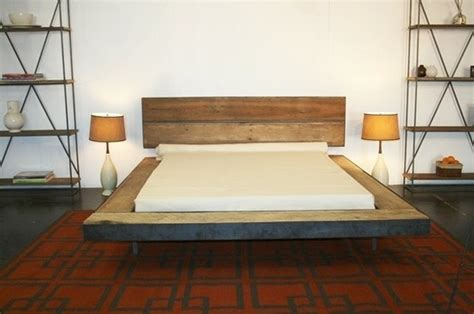 reclaimed wood platform bed by evelyn for the home pinterest