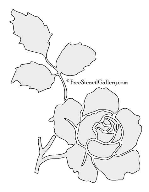 printable stencils rose rose flower stencil free stencil gallery