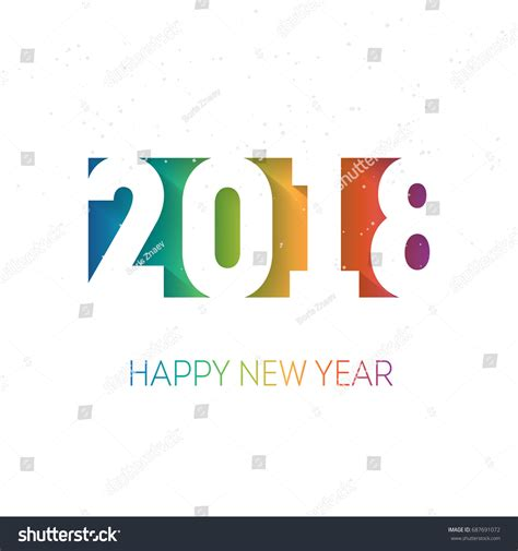 Happy New Year Business Card Template by Happy New Year 2018 Vector Background Stock Vector