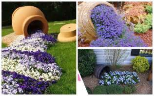 Make Flower Planters - need some fresh ideas for your garden here are 10