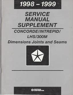 auto manual repair 1999 dodge intrepid interior lighting 1999 chrysler concorde chrysler lhs chrysler 300m dodge intrepid dimensions joints