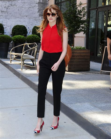 Emma Stone Outfits | emma stone style out in new york city july 2014