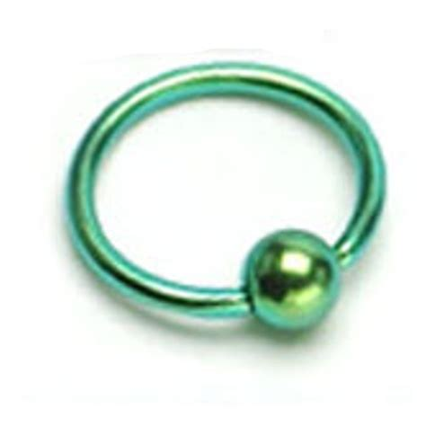 Pair Of Titanium Anodized 316l Surgical Steel Rings