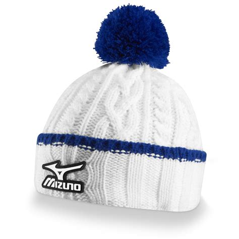 white cable knit hat 2014 mizuno cable knit bobble hat white new ebay