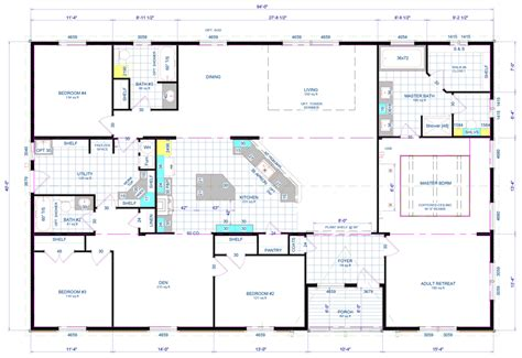 triple wide manufactured home floorplans pinterest oakland triple wide hud manufactured home floor plans